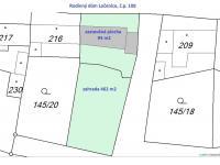 katastrální mapa (Prodej domu v osobním vlastnictví 80 m², Ločenice)