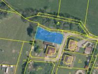 katastrální mapa + ortofoto (Prodej pozemku 741 m², Omlenice)