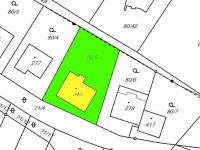 katastrální mapa (Prodej domu v osobním vlastnictví 380 m², Dolní Dvořiště)