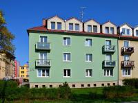 POHLED NA DŮM Z TÁBORITSKÉ ULICE (Prodej bytu 2+kk v osobním vlastnictví 52 m², Třeboň)