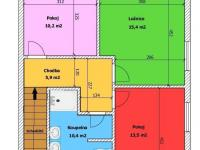 půdorys 2.NP (Prodej domu v osobním vlastnictví 109 m², Srubec)