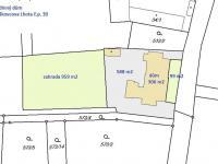 katastrální mapa (Prodej domu v osobním vlastnictví 200 m², Haškovcova Lhota)