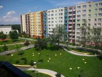 Pohled z balkonu (Prodej bytu 3+1 v osobním vlastnictví 73 m², České Budějovice)