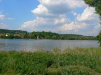 pohled na nádrž ze břehu (Prodej chaty / chalupy, Hluboká nad Vltavou)