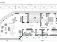 půdorys prvního podlaží (Prodej domu v osobním vlastnictví 220 m², Mirkovice)