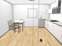 vizualizace kuchyň (Prodej domu v osobním vlastnictví 64 m², Lišov)