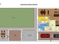 Orientační půdorys přízemí - Prodej domu v osobním vlastnictví 235 m², Dobrá Voda u Českých Budějovic