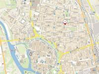 mapa lokality (Prodej bytu 3+1 v osobním vlastnictví 66 m², České Budějovice)