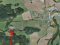 MAPA - UMÍSTĚNÍ POZEMKU V OBCI - Prodej pozemku 933 m², Kájov