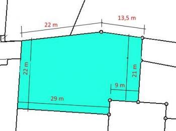 ROZMĚRY POZEMKU - Prodej pozemku 933 m², Kájov