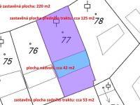 katastrální mapa - Prodej domu v osobním vlastnictví 450 m², Třeboň