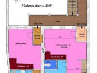 Půdorys 1.patro - Prodej domu v osobním vlastnictví 450 m², Třeboň