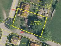 katastrální mapa (Prodej domu v osobním vlastnictví 140 m², Nové Hrady)