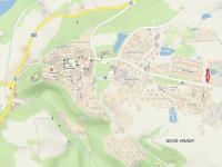 poloha ve městě (Prodej domu v osobním vlastnictví 140 m², Nové Hrady)