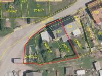 Katastrální mapa (Prodej domu v osobním vlastnictví 157 m², Horní Stropnice)