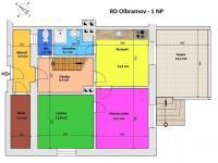 Půdorys přízemí (Prodej domu v osobním vlastnictví 157 m², Horní Stropnice)