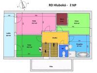 půdorys 2. NP - Prodej domu v osobním vlastnictví 240 m², Hluboká nad Vltavou