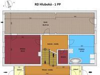 půdorys přízemí a suterén - Prodej domu v osobním vlastnictví 240 m², Hluboká nad Vltavou