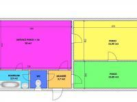 půdorys bytu - Pronájem bytu 3+kk v osobním vlastnictví 80 m², České Budějovice