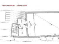 půdorys III.NP - Prodej restaurace 787 m², Benešov nad Černou