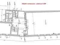 půdorys II.NP - Prodej restaurace 787 m², Benešov nad Černou