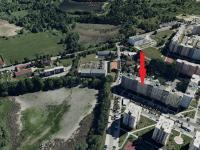 letecká mapa - Pronájem bytu 2+kk v družstevním vlastnictví 50 m², České Budějovice