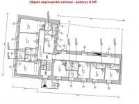 půdorys II.NP (Prodej hotelu 510 m², Benešov nad Černou)