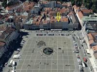 umístění objektu - Pronájem obchodních prostor 185 m², České Budějovice