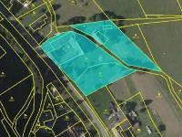 plán prodávaných pozemků - Prodej zemědělského objektu 363 m², Albrechtice
