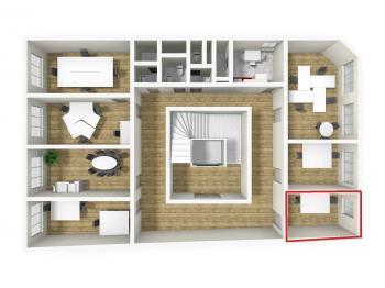 3D vizualizace - Pronájem kancelářských prostor 12 m², Broumov