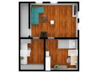 vizualizace podkroví domu - Prodej domu v osobním vlastnictví 125 m², Rychnov nad Kněžnou