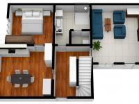 vizualizace přízemí domu - Prodej domu v osobním vlastnictví 125 m², Rychnov nad Kněžnou