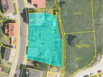 Vymezení pozemků zahrnutých v nabídce - Prodej domu v osobním vlastnictví 316 m², Žacléř