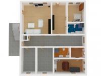 možné řešení přestavby na byty - Prodej domu v osobním vlastnictví 370 m², Hrádek