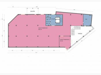 2. nadzemní podlaží - Pronájem komerčního objektu 1300 m², Pardubice
