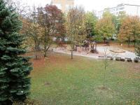 výhled z oken do parku - Pronájem bytu 1+kk v osobním vlastnictví 28 m², Pardubice