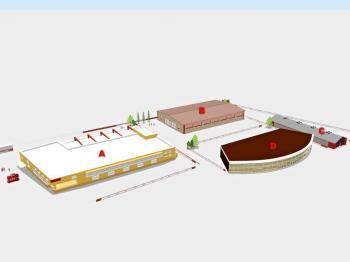 varianta výstavby - Prodej pozemku 5521 m², Rudoltice