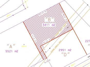 část pozemku určená k prodeji - Prodej pozemku 3411 m², Rudoltice