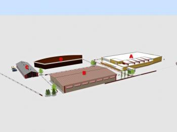 varianta výstavby - Prodej pozemku 3411 m², Rudoltice
