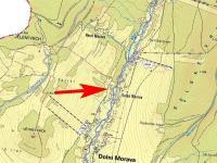 Mapa širší - Prodej pozemku 1958 m², Dolní Morava