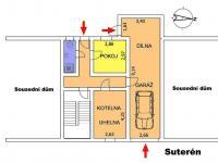 """Půdorys \""""Suterén\"""" - Prodej domu v osobním vlastnictví 217 m², Žamberk"""