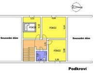 """Půdorys \""""Podkroví\"""" - Prodej domu v osobním vlastnictví 217 m², Žamberk"""