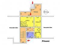 """Půdorys \""""Přízemí\"""" - Prodej domu v osobním vlastnictví 217 m², Žamberk"""