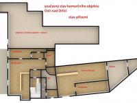 současný půdorys (Prodej hotelu 1200 m², Ústí nad Orlicí)