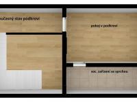 půdorys bytu v pokroví (Prodej hotelu 1200 m², Ústí nad Orlicí)