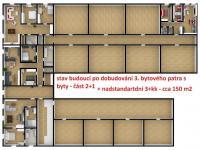 budoucí možná přístavba bytů v druhém patře - nebo pokoje pro další rozšíření hotelu (Prodej hotelu 1200 m², Ústí nad Orlicí)