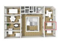 3D vizualizace (Pronájem kancelářských prostor 12 m², Broumov)