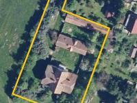 Hranice pozemků - ortofoto (Prodej domu v osobním vlastnictví 237 m², Všemyslice)