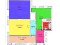 2+1 plánek - Prodej domu v osobním vlastnictví 228 m², Komařice