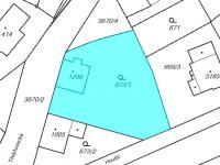 Katastrální mapa - Prodej domu v osobním vlastnictví 77 m², Lanškroun